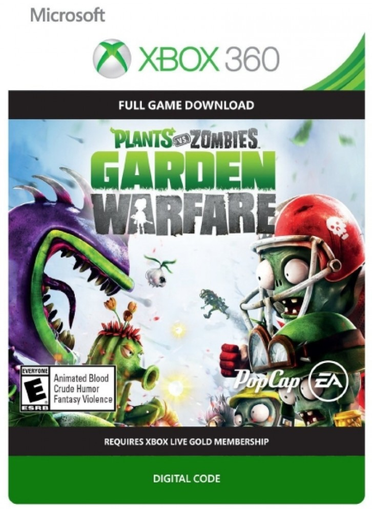 Plants Vs Zombies Garden Warfare Xbox 360 Download Code Official Full Game