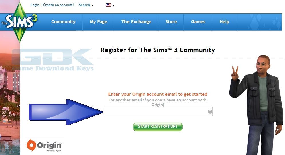 how to register a sims 3 game on origin
